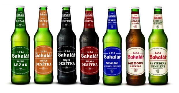 Pivo Bakalář zdobí modernější etikety