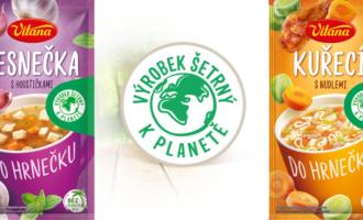 Vitana dává na obaly polévek logo Výrobek šetrný k planetě