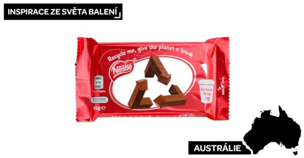 KitKat nahrazuje své ikonické logo recyklačním symbolem, aby podpořil správné třídění