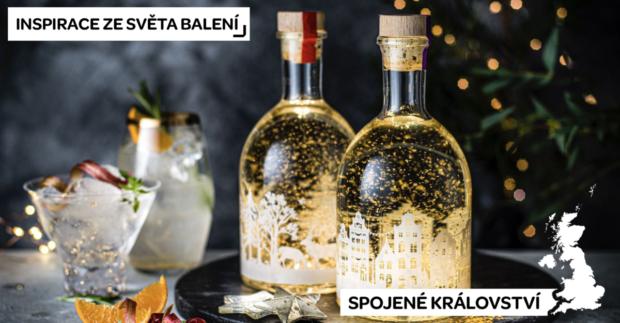 Svítící etiketa dodává vánočním likérům Marks & Spencer kouzlo