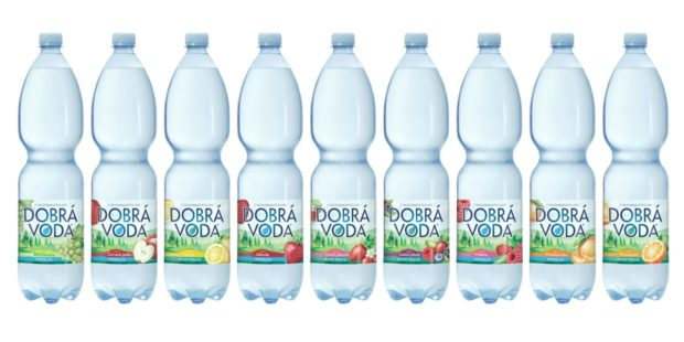 Dobrá voda je třetí značkou Mattoni 1873, jež sjednotila barvu PET lahví kvůli lepší cirkularitě