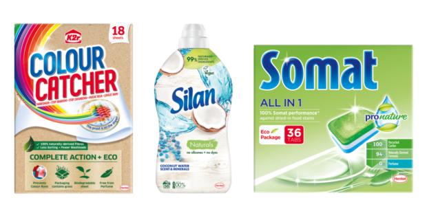 Henkel mení obaly, niektoré obsahujú trávu namiesto buničiny