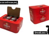 Španělské pivo Estrella Damm v novém lepenkovém multipacku od Graphic Packaging