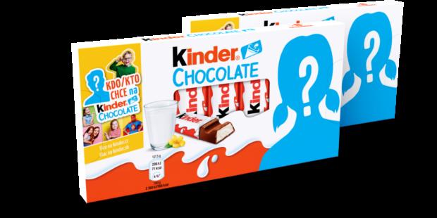 Kinder nabízí v rámci soutěže personalizované balení čokolády